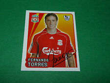 N°320 F. TORRES LIVERPOOL REDS MERLIN PREMIER LEAGUE FOOTBALL 2007-2008 PANINI