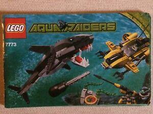 Lego Aqua Raiders 7773 Tiger Shark Attack Instructions
