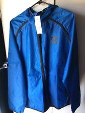 DC SHOES Men's XL Blue Hoodie Rain Jacket Full Zip Lightweight NWT  $70