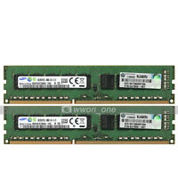 Samsung 16GB 2x8GB 2Rx8 PC3L-10600E DDR3-1333MHz 240P ECC Unbuffered Server RAM