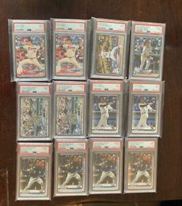 (12) 2018 Topps Baseball Graded Lot PSA 9 & 8 Mint RC Rookie Card 2019 Buehler