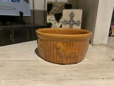 Roseville Or Robinson Ransbottom Roseville OH. Dog  Bowl Beautiful Burnt Orange.