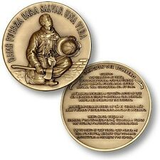 Fireman's Prayer in Spanish Challenge Coin La Oración del Bombero Fire Firemen