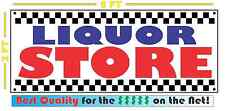 LIQUOR STORE All Weather Banner Sign Bar Convenience Store Shop Grocery Package