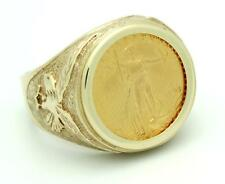 Solid Gold American Eagle Coin Ring EJR35007