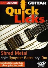 LICK LIBRARY Learn to Play QUICK LICKS SYNYSTER GATES Shred Metal GUITAR DVD