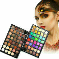 40 Farben Palette Lidschatten Nude Natural Shades Makeup Kit Set Pinsel 201 U9H2