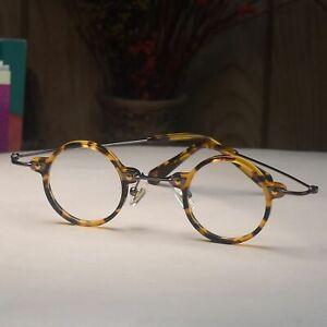 Round Tortoise Eyeglasses John Lennon Acetate metal Glasses RX clear eyewear