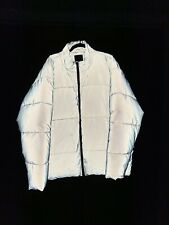 Mens Reflective 3M Puffer Jacket XXL 2XL Silver Down Coat
