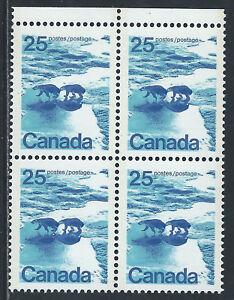 Canada #597aiii(2) 1976 25 cent POLAR BEARS - SIAMESE TWINS BLOCK MNH CV50.00
