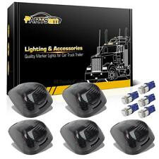 5pc Smoke 264143BK Roof Cab Lights+5050 T10 Blue LEDs for Ford F-250 F-350 99-16