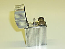 ATOMY (aluvac) French Novelty Pocket Petrol Wick ALLUMINIO Lighter - 1940-NICE