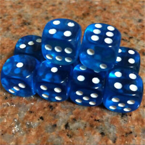 5-25pcs Standard Dice Six Sided D6 Transparent Party Creative For RPG Gaming