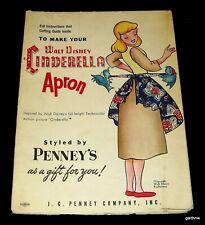 CINDERELLA ca 1950 COMIC CHARACTER ART APRON PATTERN WALT DISNEY FAIRY GODMOTHER