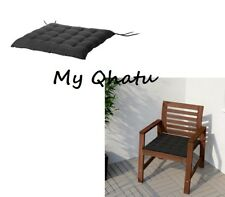 "Ikea Hallo Cushion Chair Pad Outdoor BLACK  20"" x 20"" 302.644.81 NEW"