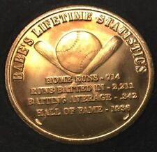 """BABE RUTH Bambino 36mm Collectible Coin Replica Signature """"The Sultan of Swat"""""""