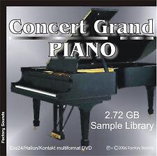CONCERT GRAND PIANO EXS24 Hal Kontakt WAV Sample CD Steinway Concert Grand D