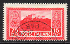 Italy 75 Cent + 15 Cent Stamp c1929 Used (5467)