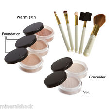 Mineralshack natural mineral makeup foundation Medium Beige Matte 10piece set