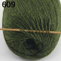 AIP Sale Soft 1 Skein x50gr Pure Cashmere Wrap Shawls Hand DIY Knit Wool Yarn 09