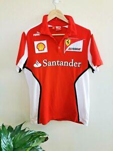 Formula 1 Ferrari Size M Shirt Puma Pirelli Santander Shell T-shirt Mens