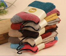 5 Pairs Women Thick Warm Wool Socks Soft Solid Casual Sports Socks Mother's Day