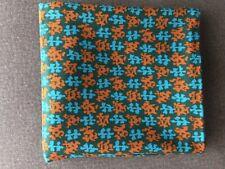 Charter Fabric Inc Vintage Orange Blue Dark Green Retro Pattern Heavy Medium
