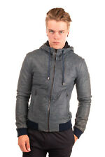 RRP €2460 DOLCE & GABBANA Leather Bomber Style Jacket Size 52 / XL Made in Italy