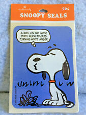 NEW Vintage Hallmark Snoopy Seals Stickers~4 Total stickers