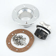Billet Aluminum Aircraft Style Fuel Cell Gas Cap + 6-Hole Anodized Flush Mount