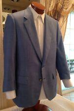 Stunning Battaglia Beverly Hills Blue Cashmere Silk Mother Pearl Btns 42 R MINT!