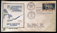 First Day of Issue St. Lawrence Seaway Opening 1959  Blue & Beige and Good