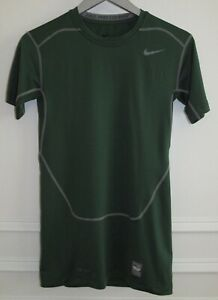 Nike Pro Combat Compression Sri-Fit Green Short Sleeve Crew Neck Shirt M