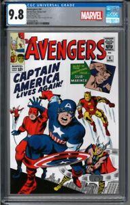 2019 Avengers #4 Captain America 1 oz Silver Foil Cover CGC 9.8 - 1000 Made