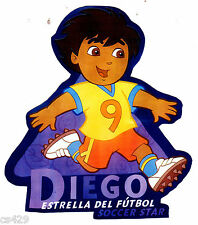 """5"""" Dora & diego soccer sports peel & stick wall border cut out character"""