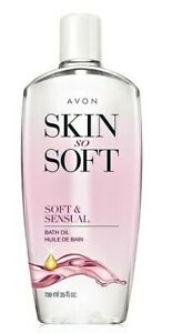 Avon Skin So Soft Bath oil 25 oz Bonus Size Soft and Sensual Scent
