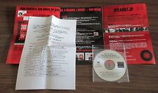 Official! BOB DYLAN Japan PROMO ONLY  CD acetate + PRESS RELEASE & PROMO leaflet