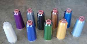"""(Lot of 10) New Size """"D"""" 4oz Rod Building Wrapping Metallic Threads #2"""