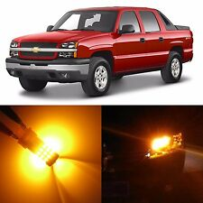 Alla Lighting Front Signal Light Amber LED Bulbs for Chevy Avalanche 1500/ 2500