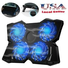 LED 4-Fan Advanced Laptop Cooler Cooling Pad For Game Lab Cyclone E-Sport USA