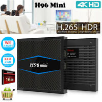 Quad Core Android TV Box 16GB ROM WiFi Bluetooth USB HDMI 4Kx2K Media Player lot