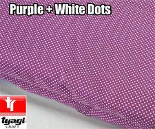 Púrpura 1MTR + tela de lunares blancos (2MM puntos) - Decoración de moda vestido haciendo