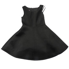 iZ Byer Black Mesh Sleeveless A-Line Dress Girls Size 8