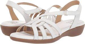 Naturalizer Women's Nalani Sandal, White, Size 10.0 IRbg