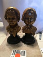 Vintage Boy And Girl Figurines Piano Decor Bronze Coloring