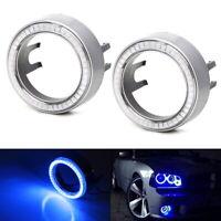 Blue 40-SMD LED Angel Eyes Halo Rings w/ Shroud For Fog Lights Retrofit DIY