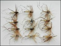 12 Standard Daddy Long Legs Trout Fly, Fishing Flies  - Mixed Size 10/12