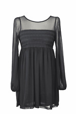 Topshop vestido túnica señora cóctel vestido dress talla 34 (XS) negro