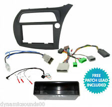 Single/Double Din Car Stereo Fascia Fitting Kit For Honda Civic 2006> Hatchback