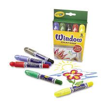 Crayola Washable Window Crayons 5/Set 529765